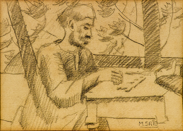 mahmoud said man seated at table valerie didier